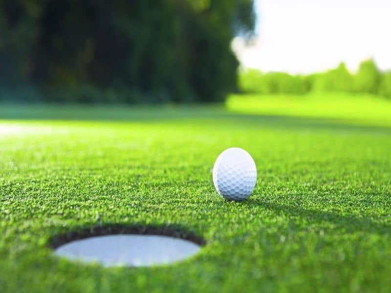 กอล์ฟเป็นกีฬาที่ใช้ไม้ตีลูกให้เป็นรูเล็ก ๆ บนสนาม