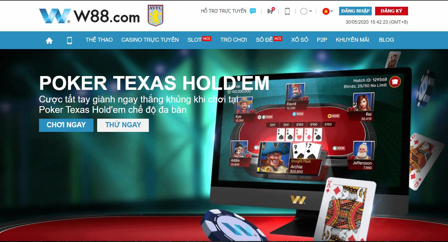 โป๊กเกอร์คืออะไร?  กฎการเล่นและวิธีเล่น Poker Texas Hold'em ที่ W88